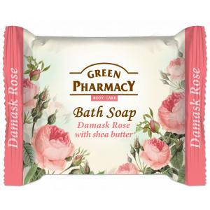 Green Pharmacy Sapun Solid cu Trandafir de Damasc si Unt de Shea 100g
