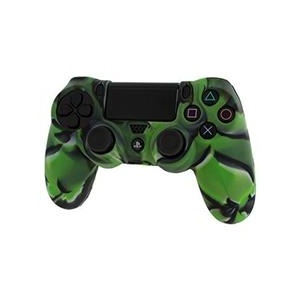 Assecure Pro Soft Silicone Protective Cover With Ribbed Handle Grip Camo Green Ps4