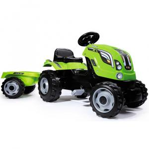 Smoby Tractor cu pedale si remorca Farmer XL verde