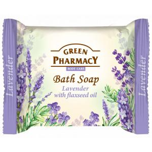Green Pharmacy Sapun Solid cu Lavanda si Ulei de In 100g