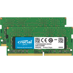 Crucial 32GB Kit (2 x 16GB) DDR4-2666 SODIMM Memory for Mac CT2K16G4S266M