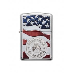 Zippo Brichetă 29395 American Stamp on Flag
