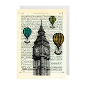Lagom Design Felicitare - Big Ben and Balloons