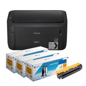 Canon Pachet Imprimanta laser mono LBP6030 si 3 tonere echivalente CE285A