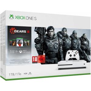 Microsoft Xbox One S 1TB, alb + Gears 5 (coduri download)