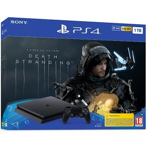 Sony PlayStation 4 Slim (PS4 Slim) 1TB, Jet Black + joc Death Stranding