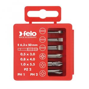 Felo Set pentru electricieni, Profi Bit Box, lungime 50mm, 6 biti/set 03092516