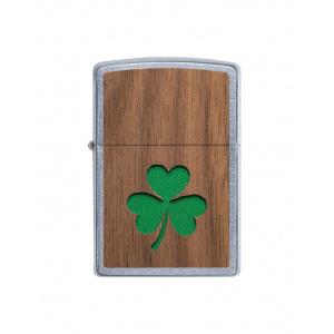 Zippo Brichetă 49056 Woodchuck USA, Walnut Emblem-Lucky Shamrock