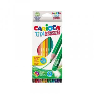 Carioca Creioane colorate 12 culori cu radiera