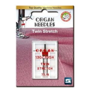 Organ Needle Ac dublu materiale elastice 75/4 mm