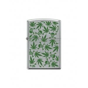 Zippo Brichetă 8969 Skulls Marijuana Weed Design