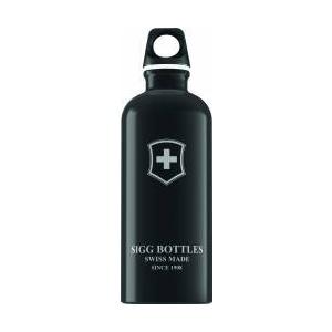 Sigg Bidon din aluminiu Swiss Emblem Black 0.6l