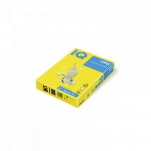 IQ Hartie color A4 80 g/mp 500 coli/top galben intens