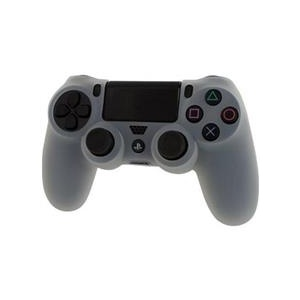 Assecure Pro Soft Silicone Protective Cover With Ribbed Handle Grip Clear White Ps4