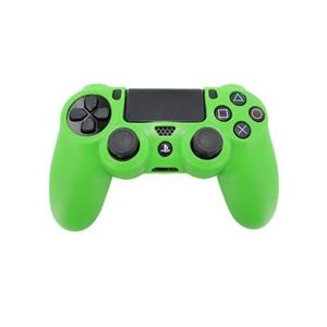 Assecure Pro Soft Silicone Protective Cover With Ribbed Handle Grip Green Ps4