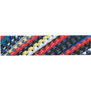 Office cover Spira plastic 10mm alb 100 bucati/set