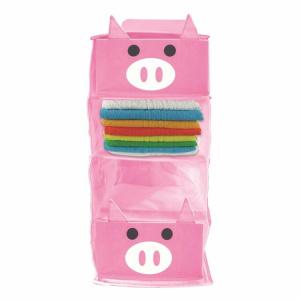 JOCCA Organizator cu 4 rafturi Pig, polietilena, Roz