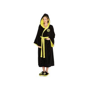 Harry Potter Halat Hufflepuff Ladies Black Fleece Robe