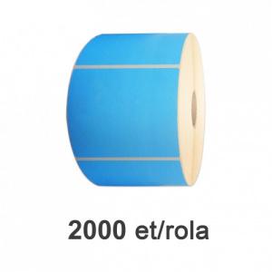 ZINTA Role etichete semilucioase albastre 100x100mm, 2000 et./rola - 100X100X2000-SGP-BLU