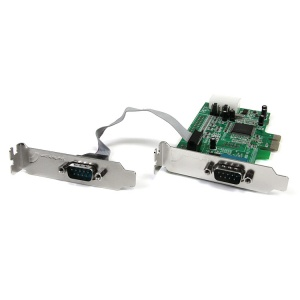 StarTech.com 2 Port Low Profile Native RS232 PCI Express Serial Card with 16550 UART PEX2S553LP