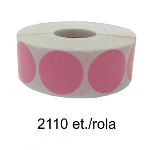 ZINTA Role etichete semilucioase rotunde roz 17mm, 2110 et./rola - 17X17X2110-SGP-R-PINKP