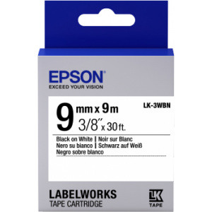Epson LK-3WBN label-making tape