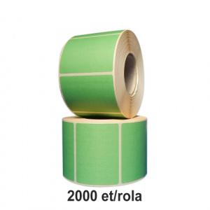 ZINTA Role etichete semilucioase verzi 100x100mm, 2000 et./rola - 100X100X2000-SGP-GRE