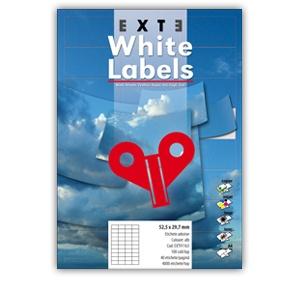 Exte Etichete adezive 70 x 50.8 mm, 40/pagina EXT91023