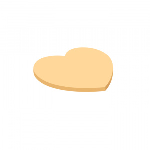 Forpus Notite adezive 42065 70x70 mm 40 file portocaliu inima
