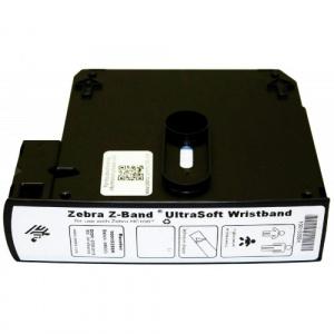 Zebra Bratari de identificare Z-Band Ultrasoft  25x152mm  albe  cutie  1800 buc   nou-nascuti