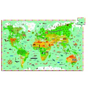 Djeco Puzzle observatie In jurul lumii