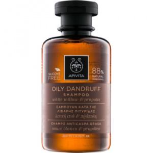 Apivita Holistic Hair Care White Willow & Propolis sampon anti-matreata pentru par gras 250 ml