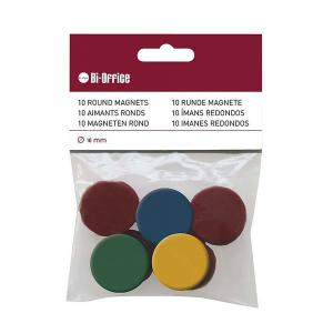 Bi-silque Magneti, 10 bucati/set, diverse culori, 10 mm