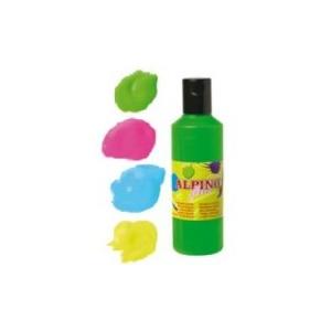 Alpino Tempera lavabila, fluorescenta, 4 culori x 250ml/cutie, MS-DM000049
