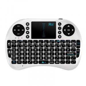 Rii Mini tastatura bluetooth Rii i8 cu touchpad compatibila Smart TV, Alb