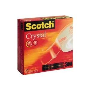 SCOTCH Banda adeziva Crystal Clear, 19 mm x 7.5 m, cu dispenser