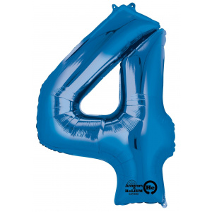 Amscan Balon Folie Cifra 4 Albastru