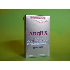 Argila Pulbere pentru Detoxifierea Organismului Favisan, 100g
