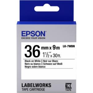 Epson LK-7WBN Black/White 36mm