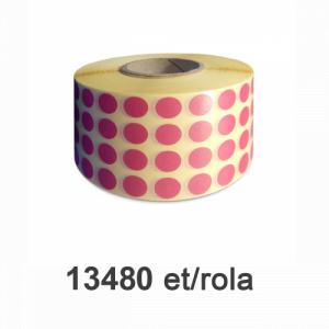 ZINTA Role etichete semilucioase rotunde, PANTONE 711, 10mm, 13.480 et./rola - 10X10X13480-SGP-R-PANTONE711