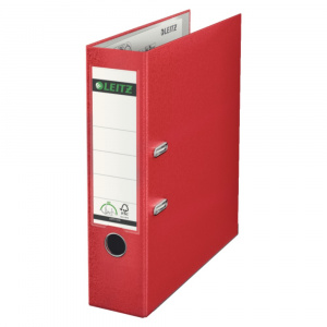Leitz Biblioraft, A4, cu mecanism 180, 8 cm, 10101201 rosu