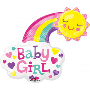 Amscan Balon Folie Baby Girl