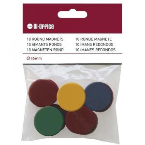 Bi-silque Magneti, 10 bucati/set, diverse culori, 20 mm