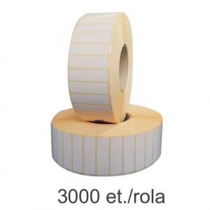 ZINTA Role etichete semilucioase 40x10mm, 3000 et./rola - 40X10X3000-SGP