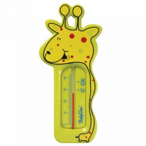 BabyOno - Termometru Baie Girafa - Galben