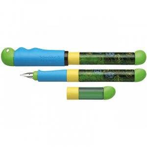 Schneider Stilou Base Kid (tip A - incepator) - corp gri/verde cu decor