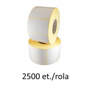 ZINTA Role etichete semilucioase 38x15.5mm, 2500 et./rola - 38X15.5X2500-SGP