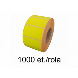 ZINTA Role etichete semilucioase 58x38mm, galben fluorescent, 1000 et./rola - 58X38X1000-SGP-YELF