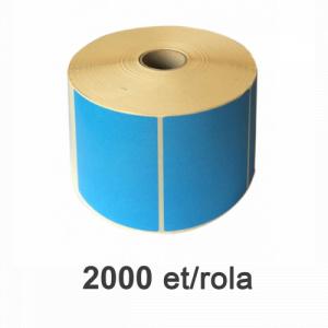 ZINTA Role etichete semilucioase albastre 80x60, 2000 et./rola - 80X60X2000-SGP-BLUP