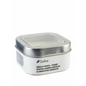 Sabio Pudra pentru albirea dintilor si sanatatea gingiilor - Bright White, 100 g